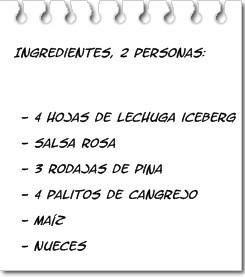 Ingredientes Ensalada de Piña con Salsa Rosa
