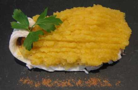 parmentier de poisson à la patate douce