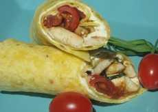 wraps poulet estragon 2 tomates