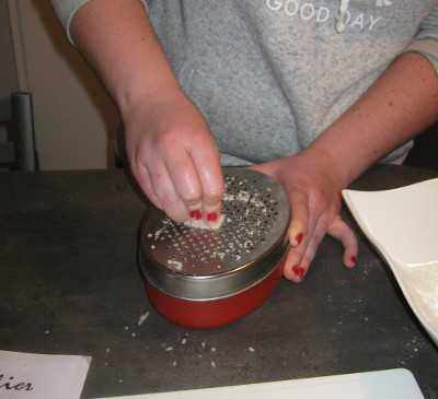 crumble poireau - parmesan