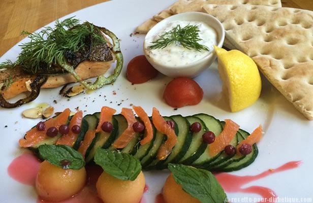 saumon-grill-melon