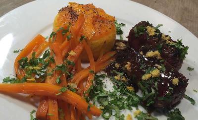 magret-orange-polenta