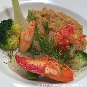 risotto-sauce-homard-diabete