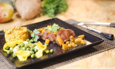magret-mangue-puree-patate-douce
