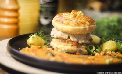 burger-cabillaud-bisque-ecrevisses