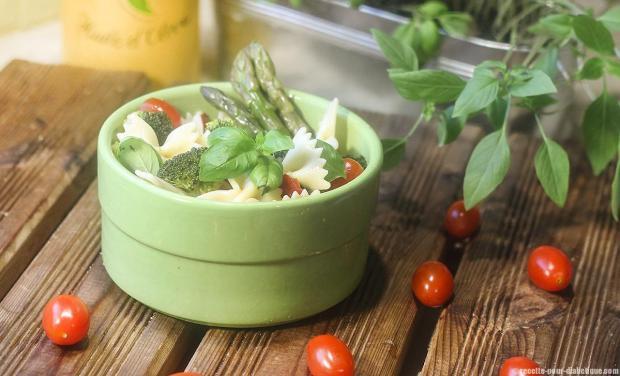 La recette de Salade de Farfalle du site recette pour diabétique.com