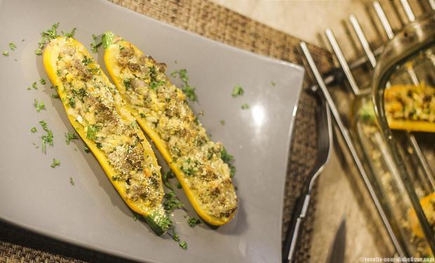 La recette des courgettes jaunes du site recette-pour-diabetique.com