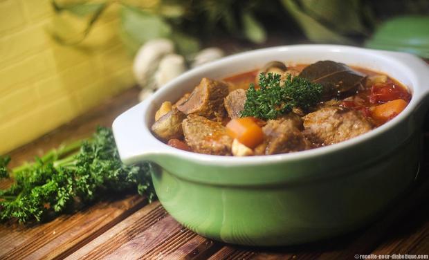 La recette du Veau marengo du site recette-pour-diabetique.com
