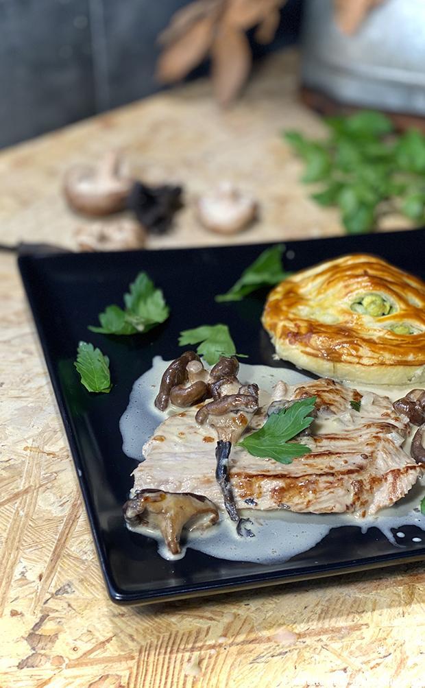 escalope veau creme champignons