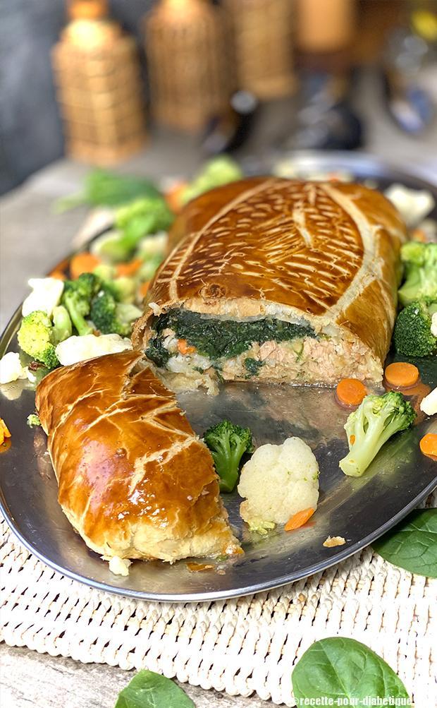 Feuillete saumon épinards