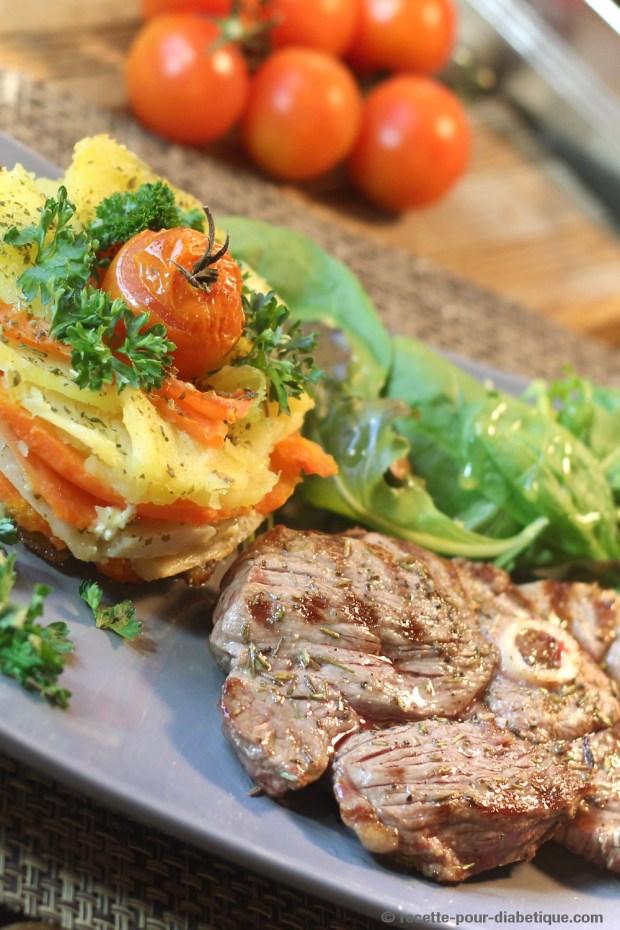 Tranches De Gigot D'agneau En Cocotte : tranches, gigot, d'agneau, cocotte, Tranche, Gigot, D'Agneau, Grillé, Mille, Feuilles, Légumes