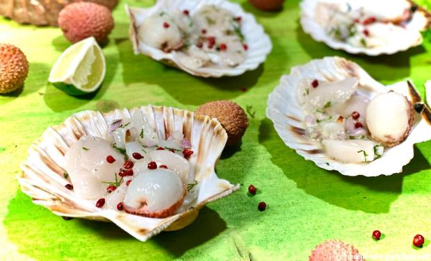coquille-saint-jacques-lychee