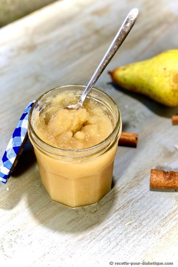 Confiture de poire sans sucre