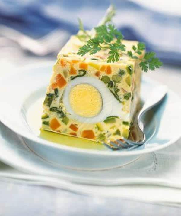 Terrine aux œufs et petits légumes thermomix