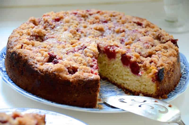 Crumble cake aux framboises thermomix