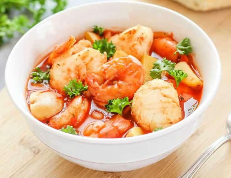 Ragoût de coquilles saint-jacques aux fruits de mer avec thermomix