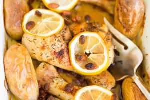 Poulet au citron et baie de goji