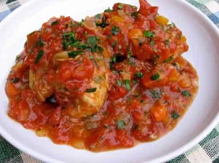 pilons de poulet aux tomates au cookeo