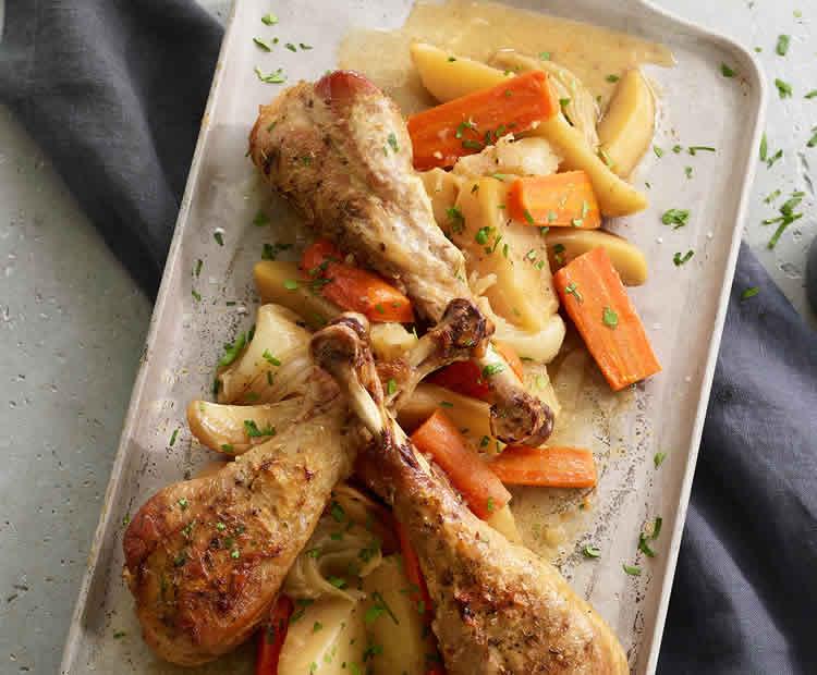 pilons de poulet pomme de terre carotte au cookeo