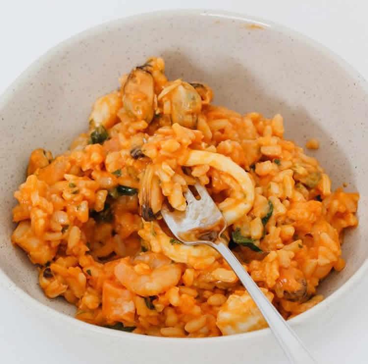 risotto aux fruits de mer au thermomix