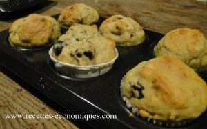 muffins olives gruyère tomates