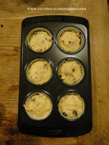 muffins olives gruyère tomates avant  four