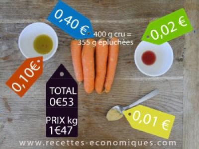 calcul carottes rapées maison