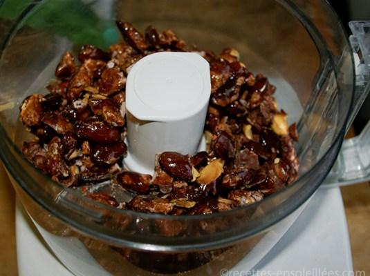 praliné amandes cacahuète