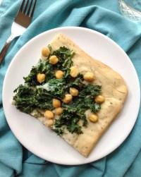 Pizza verde au chou kale