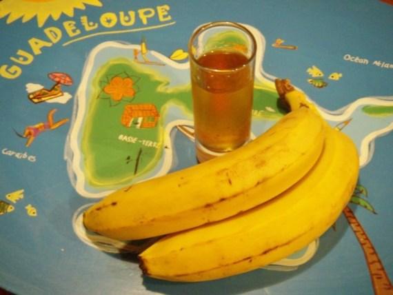 rhum banane - recettes antillaises - recette des îles  © par Fanny GRW - Recettes d'ici et d'ailleurs