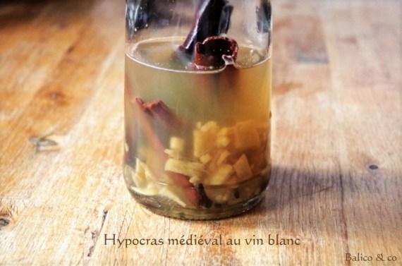 Hypocras au vin blanc Recette médiévale © Balico & co
