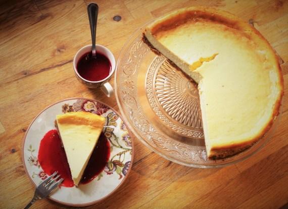 New York Cheesecake et son coulis de framboises - Cuisine américaine © par Fanny - Recettes d'ici et d'ailleurs