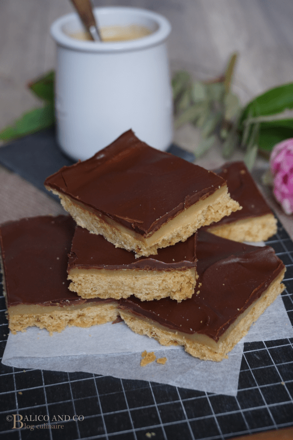 Shortbreads Millionnaire au caramel de cajou © Blog culinaire Balico and co