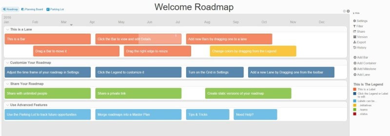 product plan is a much simpler tool but it can get you into the roadmapping groove quickly the tool provides three different views showing your roadmap