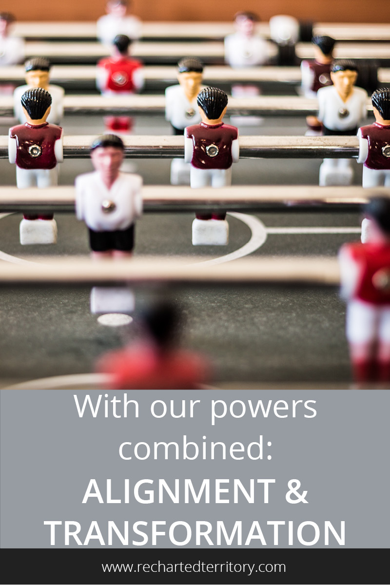 With our powers combined: Alignment and transformation
