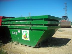 Contenedores para la gestión de residuos en Centro autorizado de tratamiento de residuos Palencia
