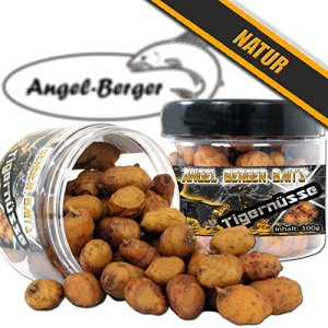 Assortiment de noix tigrées Angel Berger – Appâts de pèche – Pot de 100 g, naturel
