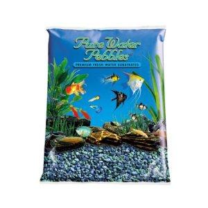 Pure Water Pebbles Aquarium Gravel Blue Lagoon Premium Natural Substrates 25Lbs