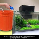 sdgdfxchn Aquarium Gravel Cleaner pompes à siphon à vide à langer d'eau avec contrôleur de débit Système de Maintien du Aquarium 150cm Blanc
