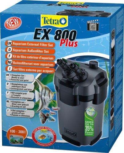 Tetra Filtre Extérieur EX 800 Plus Poissons eau douce tropicale/Poissons eau froide/Poissons eau salée pour Aquarium de 100 à 300L