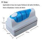 Yakamoz Brosse Magnétique de Nettoyage de Glass Nettoyeur Aimant de Verre Grattoir Nettoyage pour Aquarium Fish Tank Taille M
