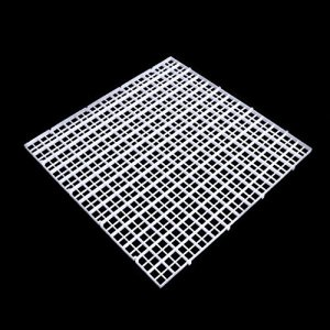 Dabixx Aquarium Isolation intercalaire filtre Patition Tableau Net intercalaire support kit Ventouse, Plastique, blanc, 30 x 30 cm
