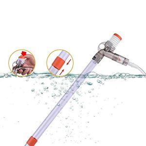 DADYPET Aspirateur Aquarium, Aspirateur Siphon Aquarium, Pompe Siphon Aquarium, Nettoyeur de Sable Gravier d'Aquarium avec Tuyaux Extensibles 30cm/40cm/180cm (Blanc)