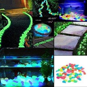 Lot de 100pierres lumineux nachtleuchtende pierres lumineuses Galets Aquarium Décoration de jardin Lot de 100