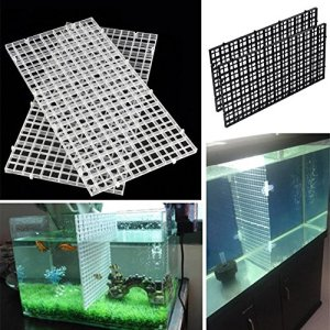 ZAK168 Lot de 2 Plateaux de séparation en Plastique pour Aquariums Transparent Noir