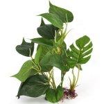 DMZK Artificielle Aquatique en Plastique Vert Deco Aquarium, Plante Feuilles de Lotus de 20 cm