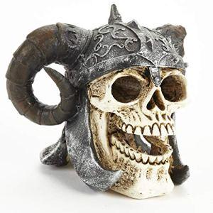 Pet Ting Décoration de réservoir Motif tête de Mort Viking