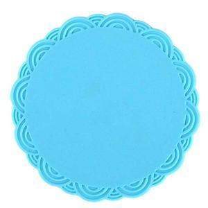 Beau coussin de tasse de silicone de coussin de tasse de thé d'isolation thermique de forme ronde de tapis de tasse (02)