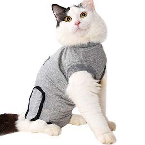 Hawkimin Poudre de Chien pour Petit Chien Cat Recovery After Surgery Clothing Pet Wound Anti-stérilisation