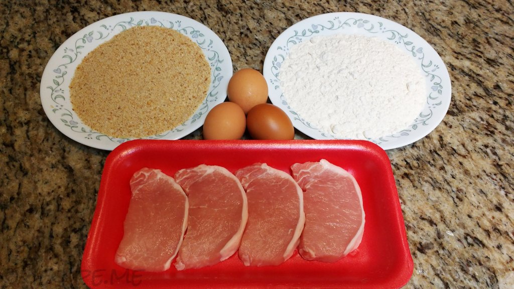 Ingredients for Pork Schnitzel
